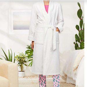 Lands' End Women's Cotton Terry Long Spa Bath Robe